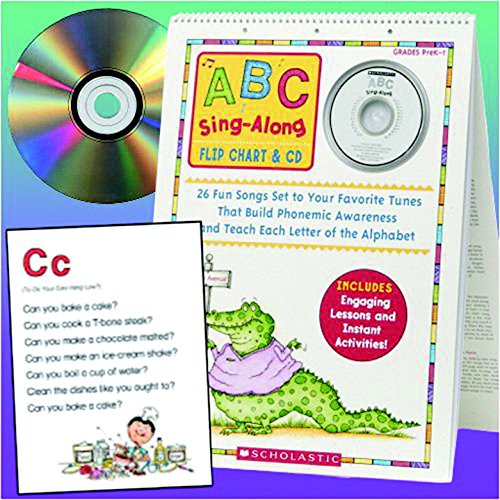 Scholastic ABC Singalong Flip Chart with CD, 26 Pages (SHSSC978439) (Abc Flip Chart With Cd)
