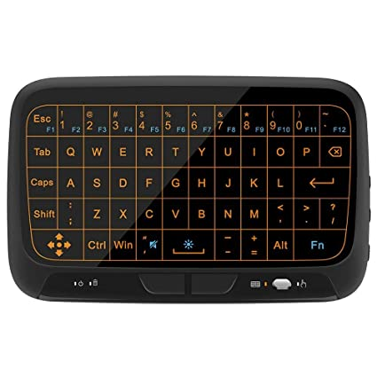 ea6c6c36b3c Timmery H18 Backlight 2.4GHz Mini Wireless Keyboard and Touchpad Mouse  Combos, Rechargeable Remote Control