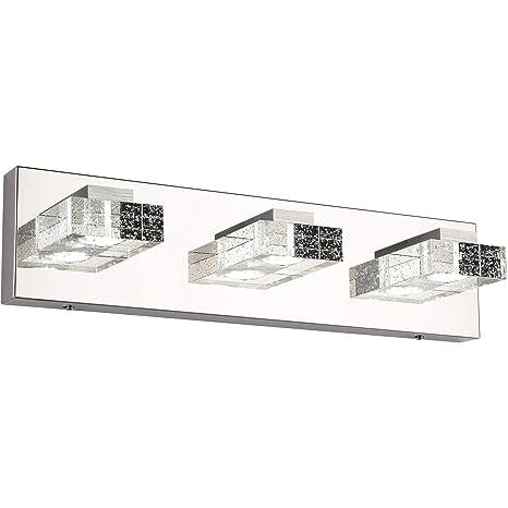 Pleasant Vanity Lights Solfart 3 Head Glass Wall Bathroom Mirror Bath Long Led Vanity Lighting Fixtures White Light 4500K Download Free Architecture Designs Scobabritishbridgeorg
