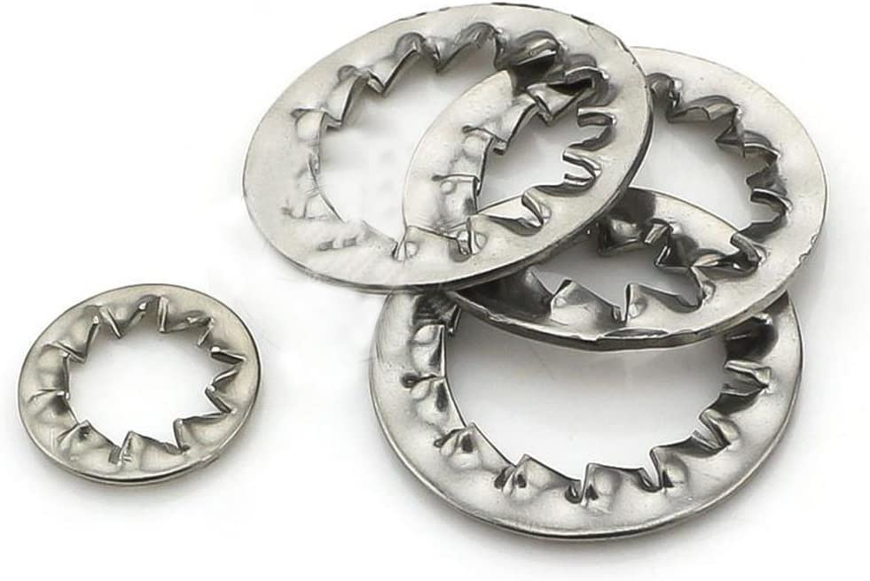 Internal Tooth Star Lock Washers M12M14M16M20 Stainless Steel Silver Tone 20 Pcs M16