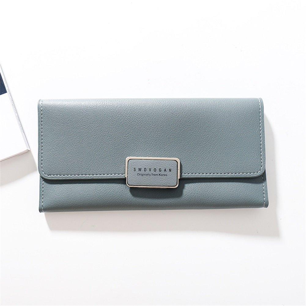 bluee Ladies Long Wallet Simple Fashion Large Capacity multicard slot (color   Light Pink)