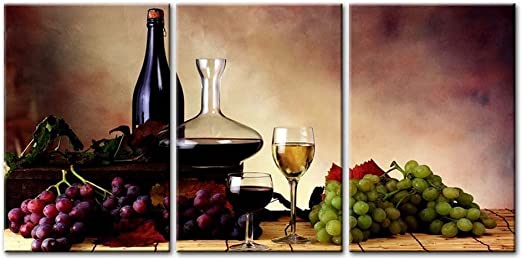Wonderful Fruits and Red Wine Canvas Painting Wall Art Picture Home Decoration