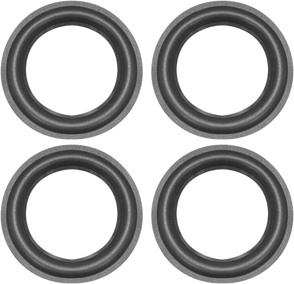 uxcell 6.5 inch Speaker Foam Edge Surround Rings Replacement Part for Speaker Repair or DIY 4pcs