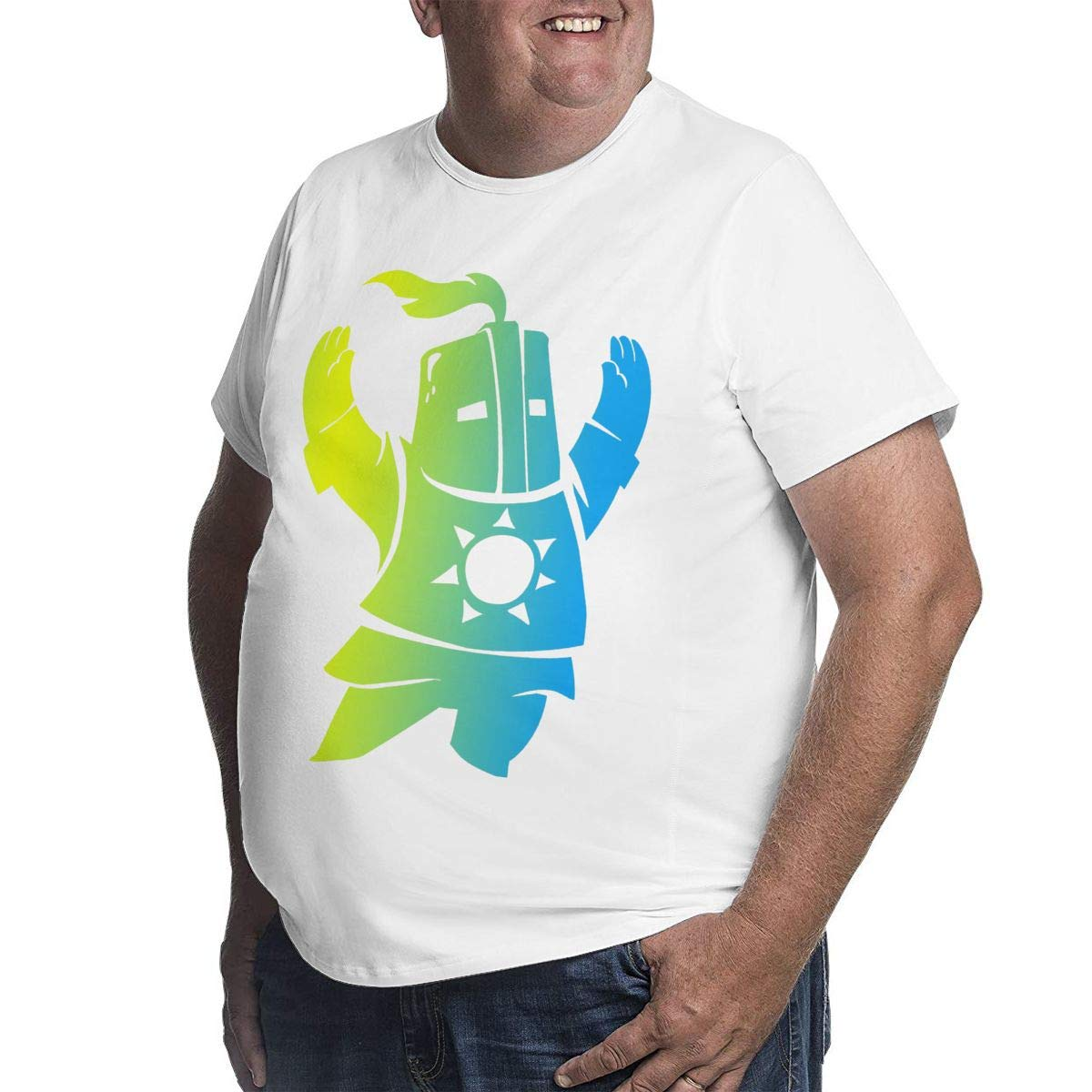Short Sleeve Tee with Crew Neck KGYUT Souls Sunbro Praise The Sun Big and Tall T-Shirt for Men