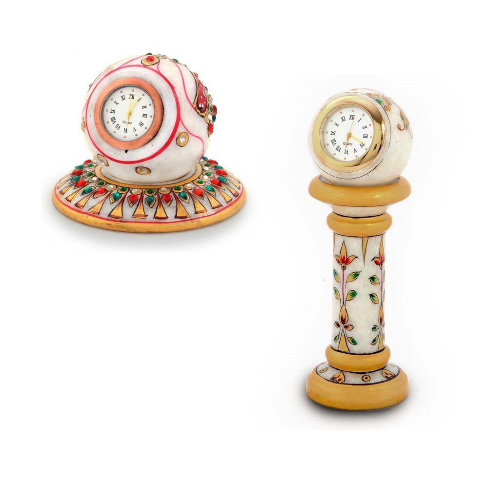 Little India Buy Gold Paint Marble Clock n Get Round Clock Free