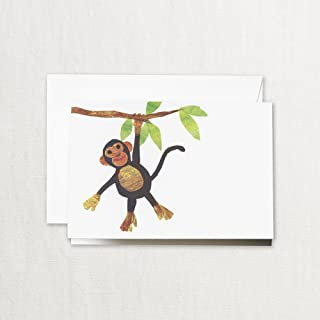 product image for Crane & Co. Cut Paper Monkey Note Cards- Pack of 20 Cards