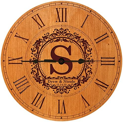 LifeSong Milestones Personalize Wedding Decorative Modern Wall Clocks Housewarming Gift