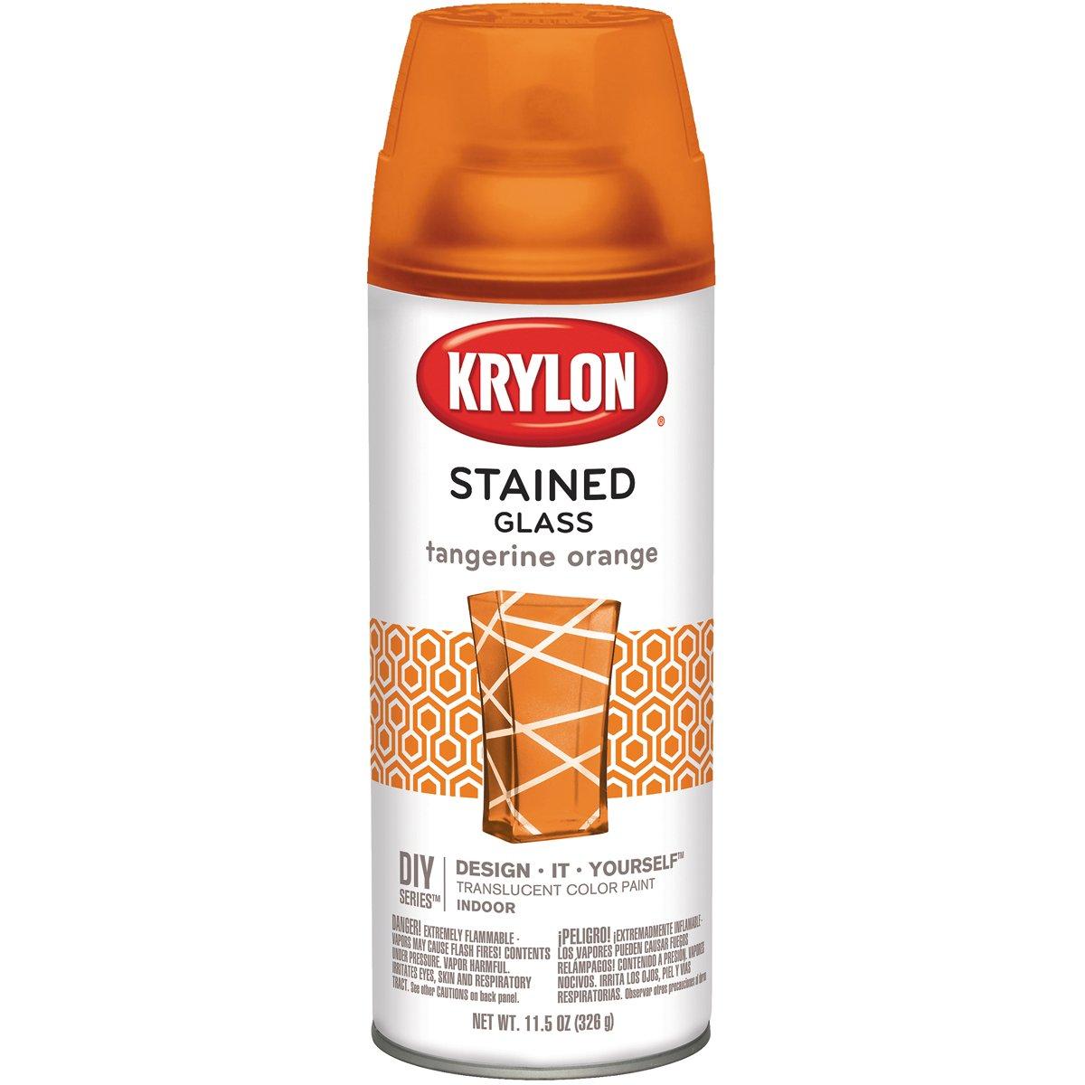 Krylon STG-9034 Stained Glass Paint 11.5oz - Tangerine Orange