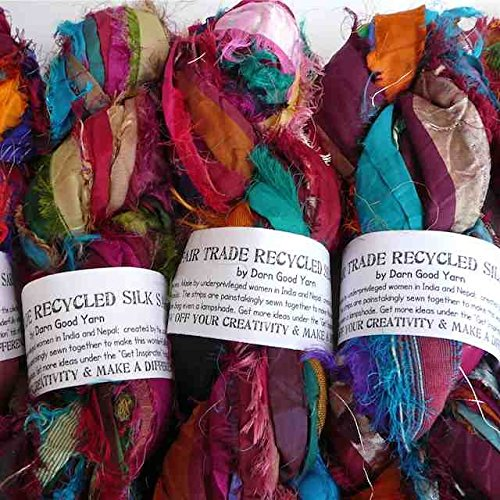 Darn Good Yarn - Recycled Sari Silk Ribbon - Recycled Yarn