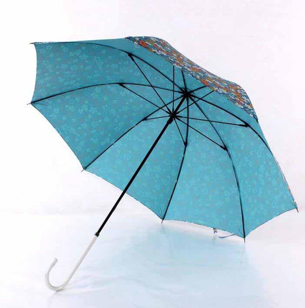 floral umbrella Kaxima Long-handled umbrella windproof umbrella umbrella open automatically straight handle umbrella 83x93cm reinforcement