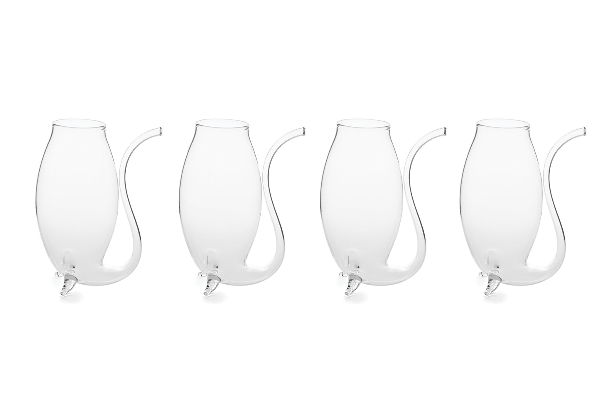 Fox Run 48747 Glass Port Sipper, 2.75 oz, Clear, Set of 4