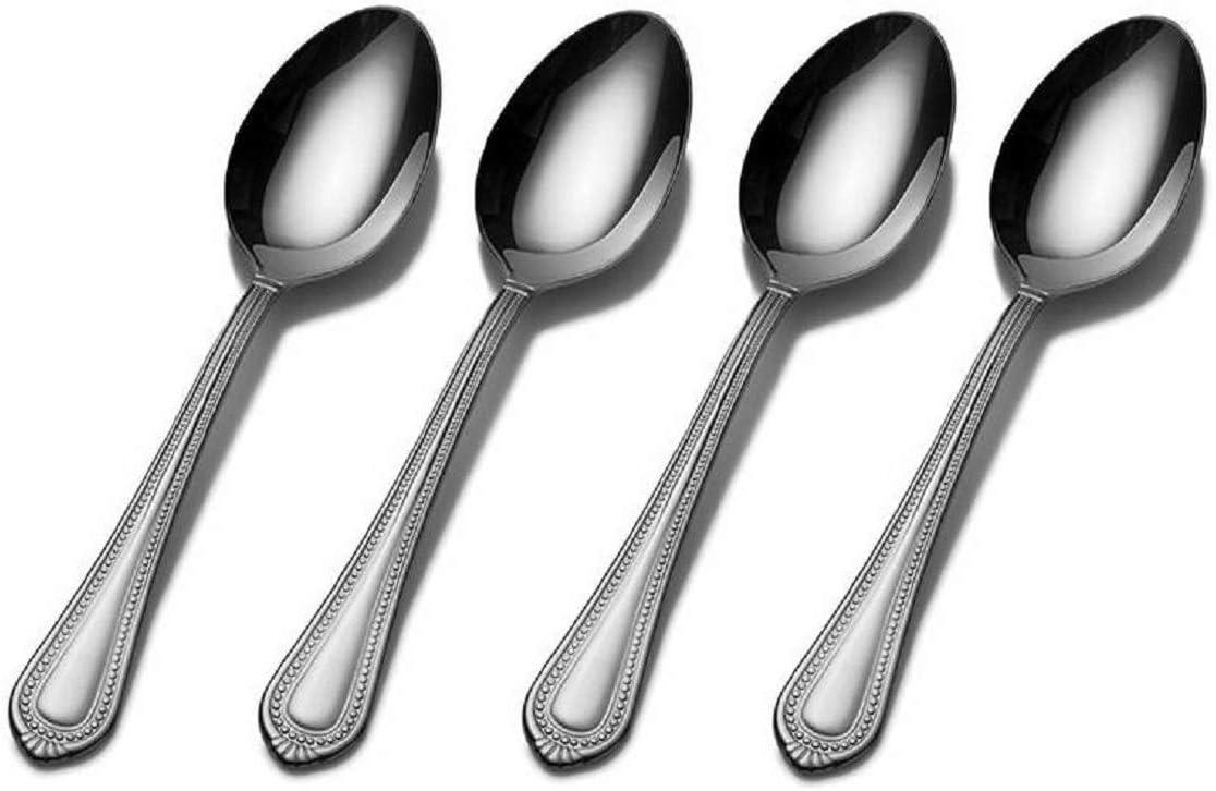 Mikasa Regent Bead 18/10 Stainless Steel Teaspoon (Set of Four)