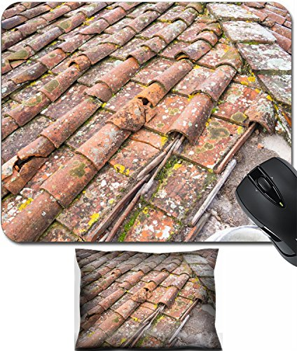 MSD Mouse Wrist Rest and Small Mousepad Set, 2pc Wrist Support design 24755031 Tuscan clay roof ()