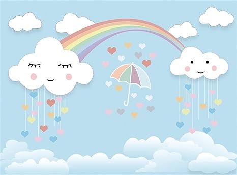 amazon com leowefowa 9x6ft sweet baby shower backdrop umbrella