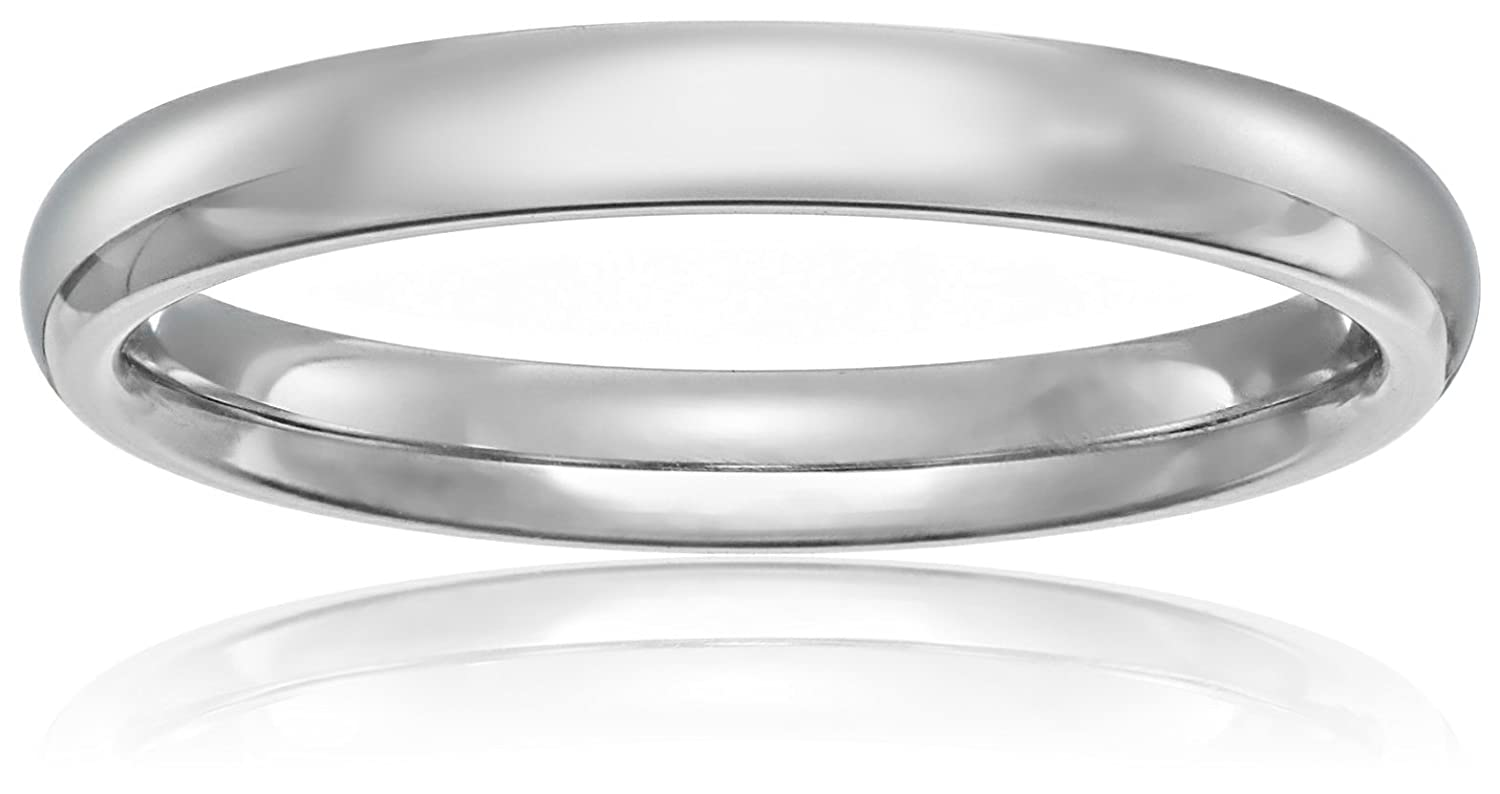 Women's 10k Gold Comfort-Fit Plain Wedding Band (3 mm) Amazon Collection