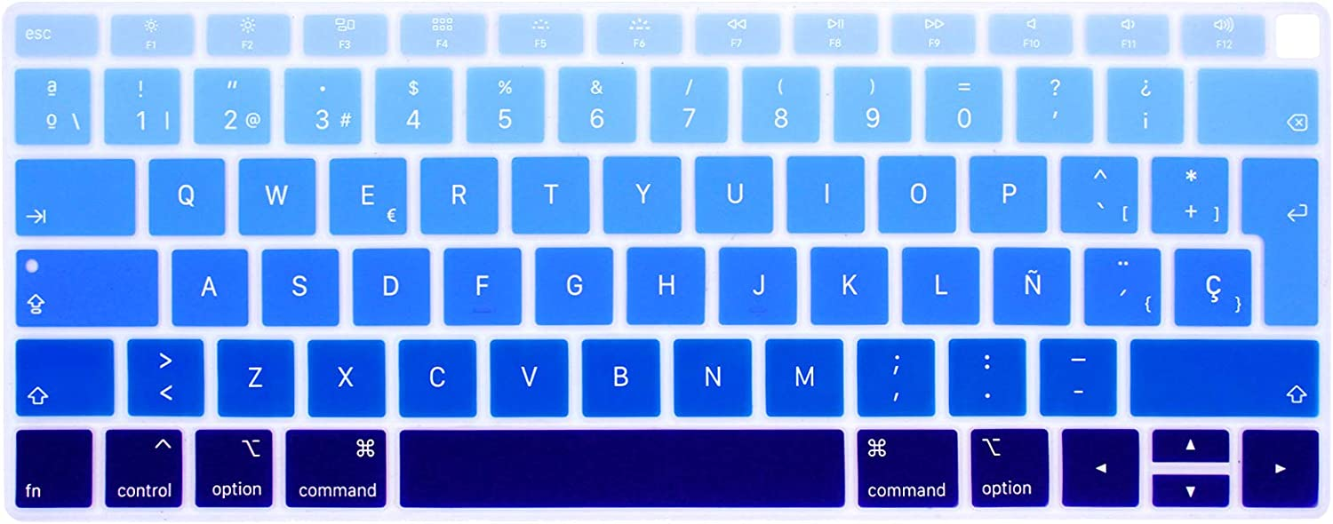 EU Layout Spanish Keyboard Cover for New MacBook Pro 13 15 inch for A1706 A1707 A1989 A1990 Silicone Protective Skin-Pink
