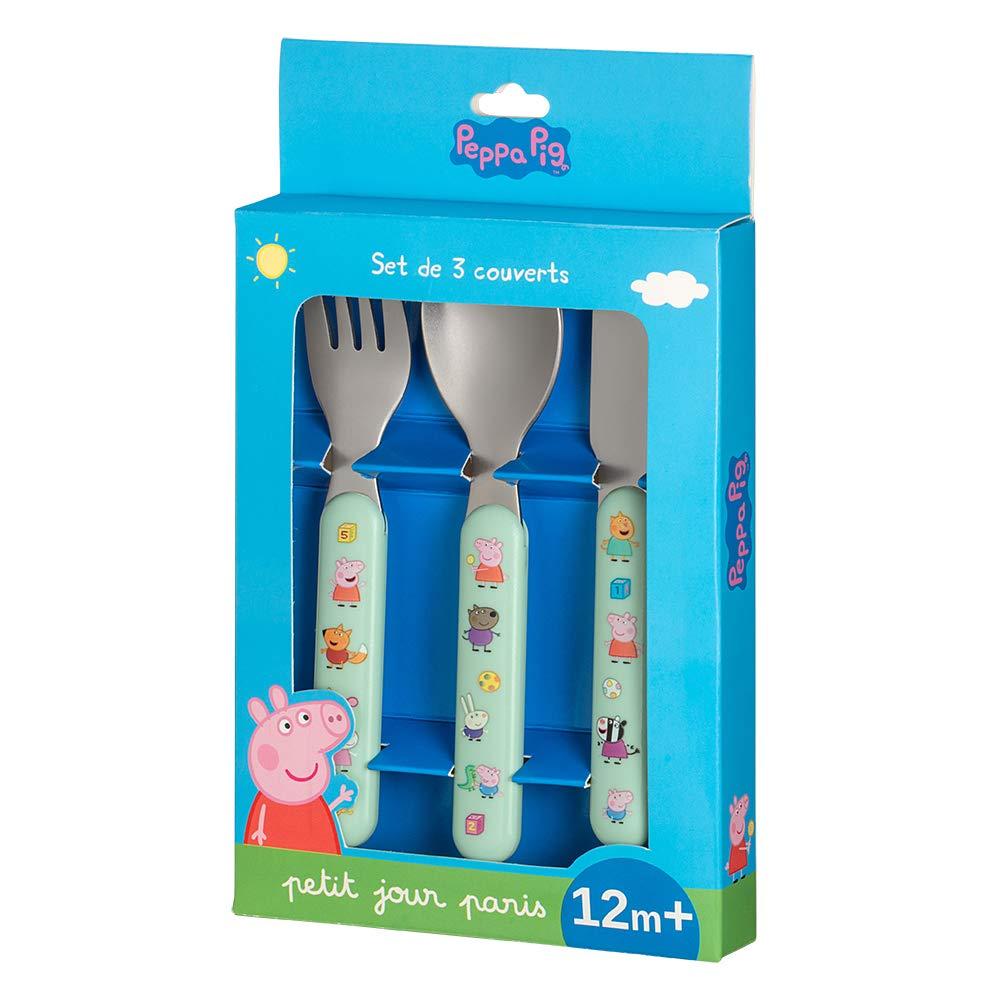 Petit Jour Paris Set de 3 Couverts PEPPA PIG pour Manger Comme Un Grand!