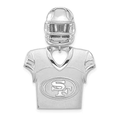 Image Unavailable. Image not available for. Color  NFL Sterling Silver San  Francisco 49ers Jersey ... 05a505fca