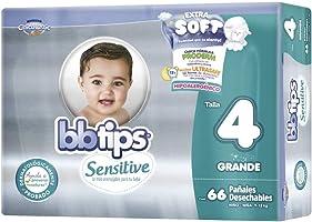 BBtips Sensitive Pañales, Talla Grande/4, 132 Pañales