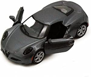Kinsmart 2013 Alfa Romeo 4C, Silver 5366D - 1/32 Scale Diecast Model Toy Car, but NO Box