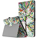 """TiMOVO All-New Fire HD 10 2017 Case (7th Generation, 2017 Release) - Smart Cover Slim Folding Stand Case with Auto Wake/Sleep Function for Amazon Fire HD 10 Tablet 10.1"""", Lucky Tree"""