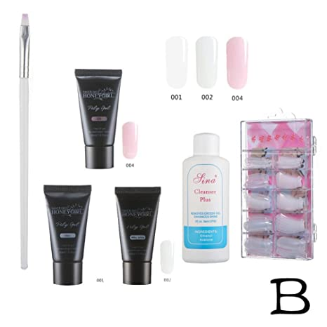 Uñas De Gel Kit Completo Gel Uv Led Set 30ml Por Bote