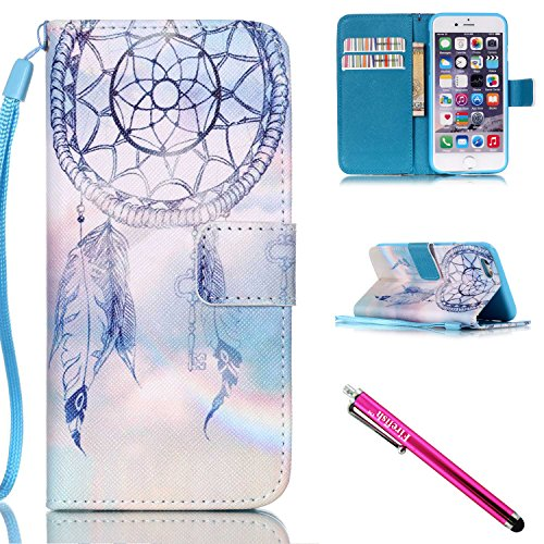 Price comparison product image iPhone 5S Case, iPhone 5 Wallet Case, Firefish Kickstand Flip [Card Slots] Wallet Cover Double Layer Bumper Shell with Magnetic Closure Strap Case for Apple iPhone 5/5S/SE-Dreamnet