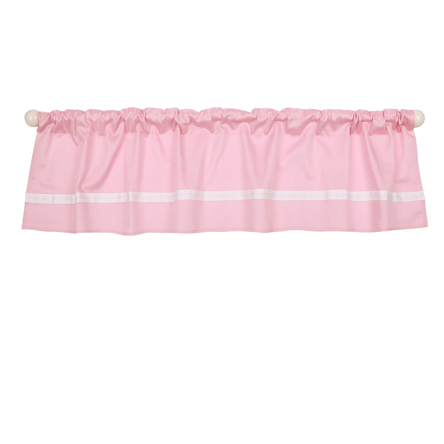 Pink Tailored Window Valance by The Peanut Shell - 100% Cotton Sateen Farallon Brands WVSDPKWH
