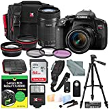 Canon EOS Rebel T7i DSLR Camera with EF-S 18-55mm f/3.5-5.6 and 55-250mm f/4-5.6 IS STM Lens Kit + DUMMIES Guide + Xpix Premium Travel Case, 64GB + Deluxe Bundle
