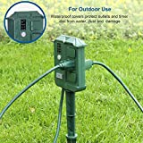 DEWENWILS Outdoor Power Stake Timer with