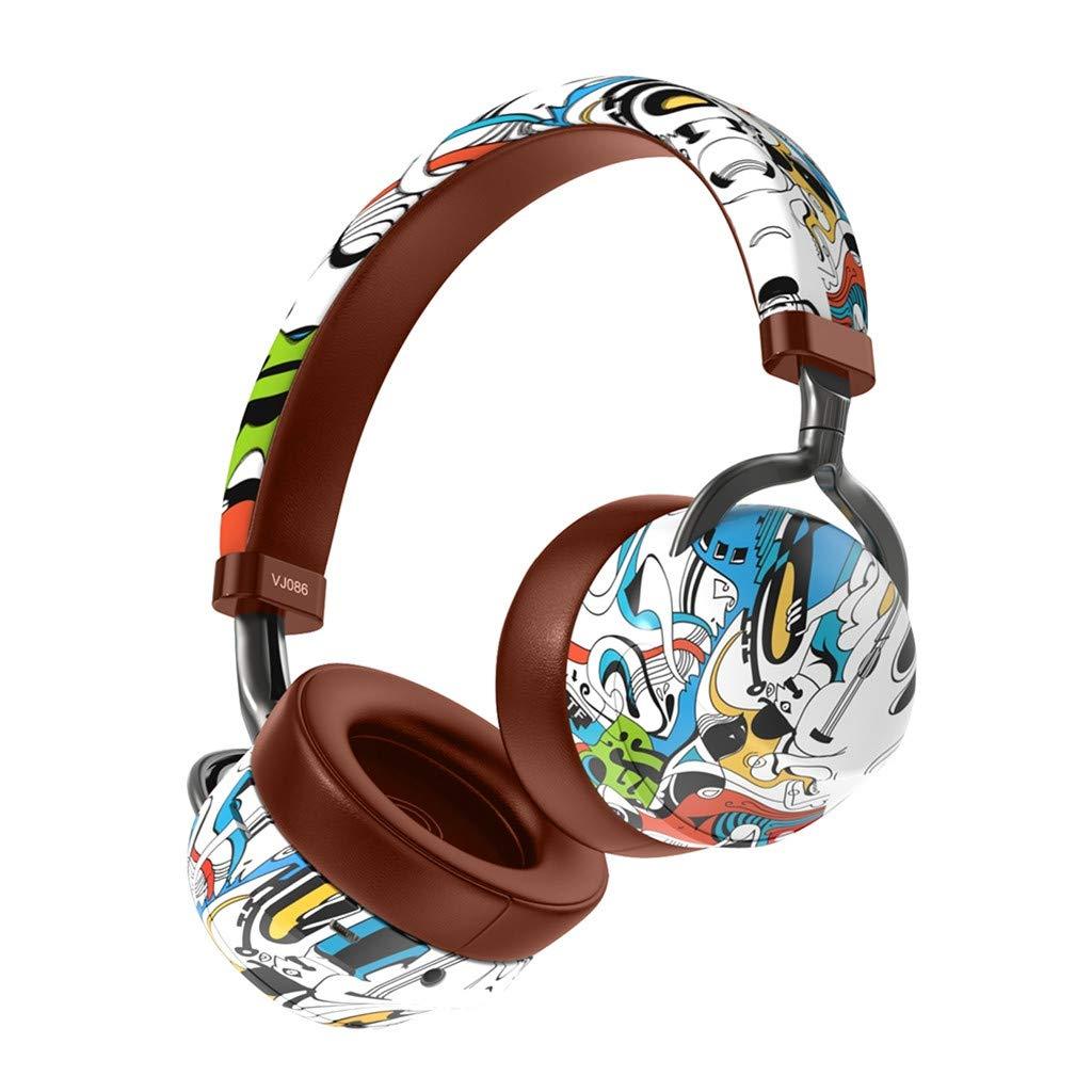 Over Ear Bluetooth Headphones, One76 Graffiti Wireless Headset V5.0 with Built-in Mic, Micro TF, FM Radio, Soft Earmuffs & Lightweight for iPhone/Samsung/PC/TV/Travel/School/Boys/Girls