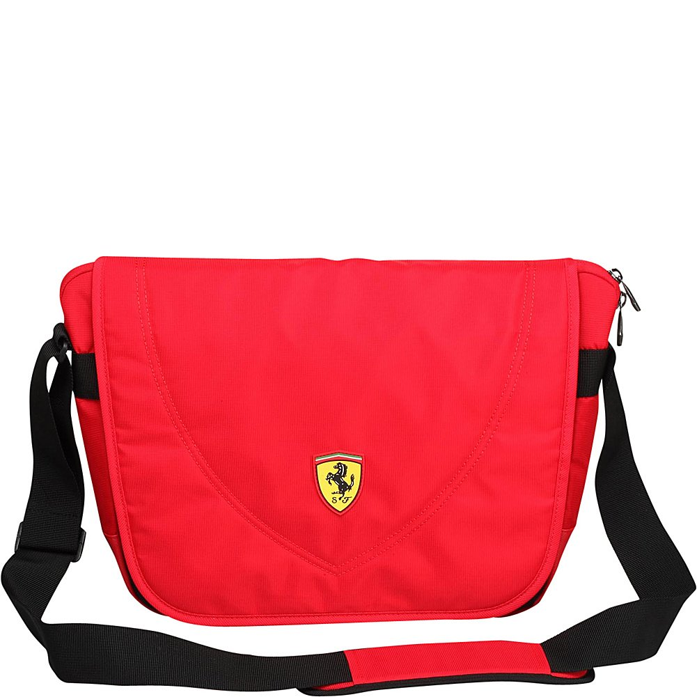 Ferrari Travelers Messenger Bag, Red