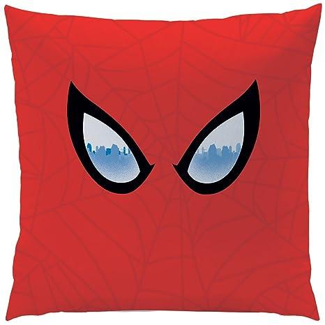 CTI 043669 - Cojín de Spider-Man, de poliéster Rojo, 40 x 40 ...