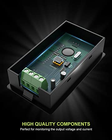 ALLPOWERS DC 6.5-100V 0-100A - Medidor de energía Digital con Pantalla LCD, voltímetro amperimetro con Corriente de 100 A
