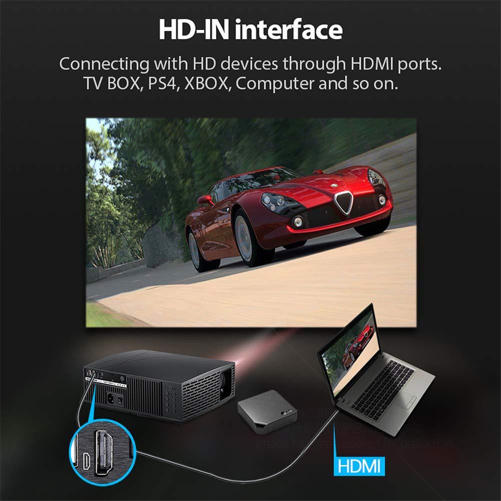 Amazon.com: Proyector de vídeo HD 1080P 3000 lúmenes LCD LED ...