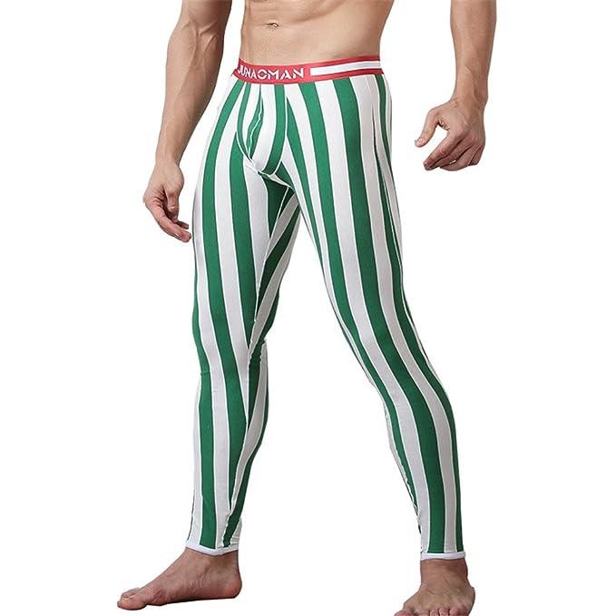 Pantalones Térmicos para Hombre - Largo Delgado Stretch Leggings Cómodo Algodón Ropa Interior Invierno Cálido Calzoncillos