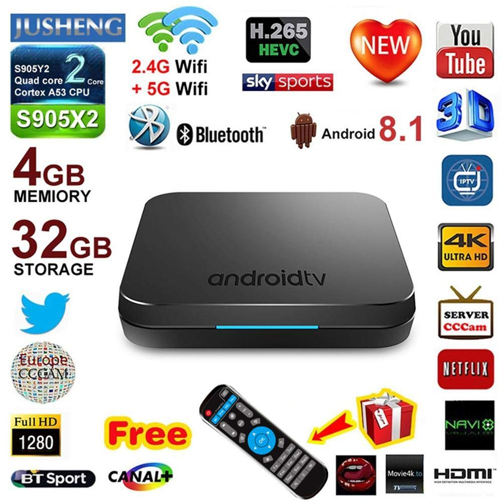 KM9 Android 8.1 TV BOX S905X2 Network Bluetooth Edition Set Top Box 4+32G 4K WIFI by Oshide (Image #4)