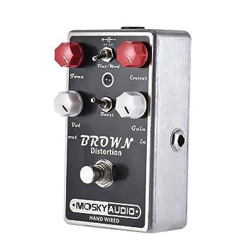 ammoon Pedal de Efecto de Guitarra MOSKY BROWN Alta Calidad de Distorsión Shell de Metal Completo