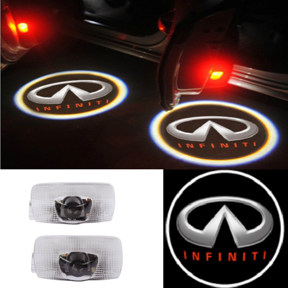Moonet 2x Door Light Car Vehicle Ghost Led Courtesy Infiniti Qx60 Fuse Box Welcome Logo Lamp Shadow Projector For 2007 2013 Fx G Series