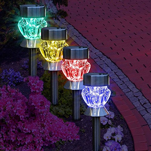 5 Pathway Lighting Tips Ideas Walkway Lights Guide: Solar Path Lights Outdoor Diamond Shaped Holiday