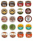 k cups christmas - 20 Winter Variety K Cup Pack - Includes Santa's White Christmas, Chocoalte Chip Cookie, Chocolate Fudge Cake, Italian Rum, Maple Sleigh, Winterfest, Tiramisu, Creme Burle, Chocolate Mint and Other Winter Flavors