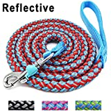Mycicy Mountain Climbing Rope Dog Leash - 6 Foot Reflective Nylon Braided Heavy Duty Dog Training Leash for Large and Medium Dogs Walking Lead (red)