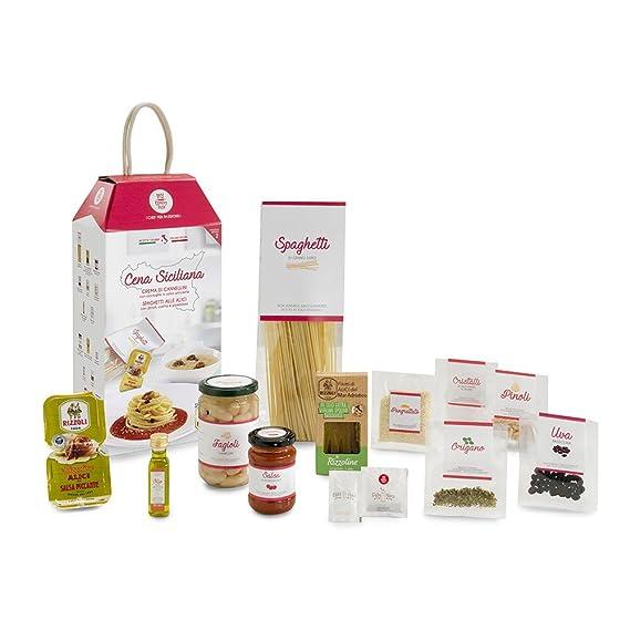 LA CENA SICILIANA (Crema de judías Cannellini y Spaghetti con anchoas y uva pasa)