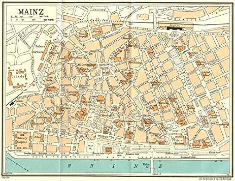 Amazoncom GERMANY Mainz 1931 map Wall Maps Posters Prints