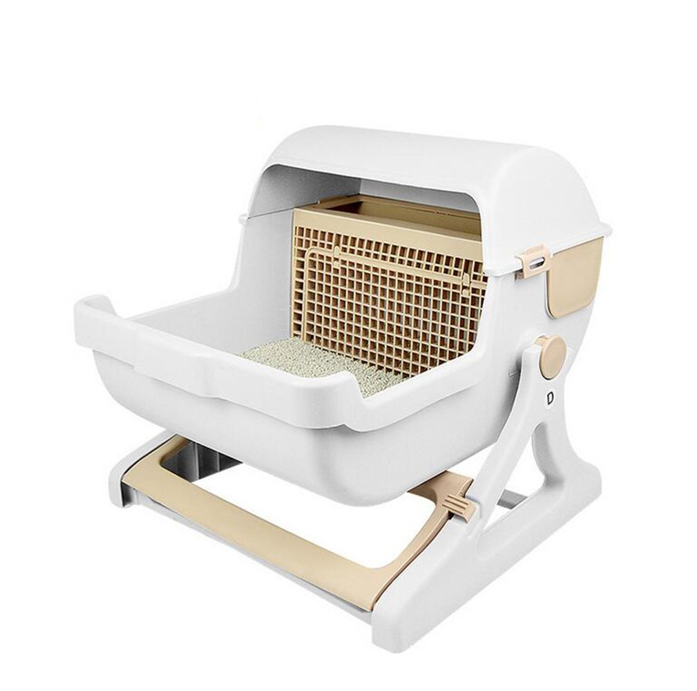 HYSUNG Dipper Filter Type Cat Litter Box Senior Luxury And Luxury Of Semi-Automatic Pet Cat Toilet Bowl