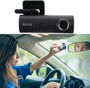 THAOMAI- 1 Pcs 70Mai Car Dash Cam English Version 1080P 30Fps Car Dvr Camera Imx323 Sensor 130 Degree 240Mah Car Camera Recorder (Single 8Gb Sd)