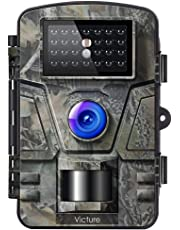 Victure Trail Game Camera with Night Vision Motion Activated 1080P 12MP Hunting Trap Cameras with Low Glow and Upgraded Waterproof IP66 for Outdoor Wildlife Watching