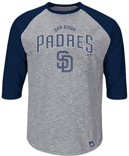 buy online e503b 77a56 San Diego Padres MLB Mens Fast Win 3/4 Sleeve Raglan Shirt Big & Tall Sizes