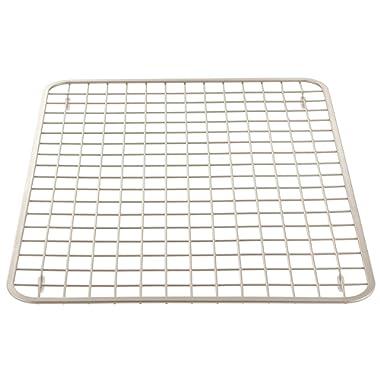 InterDesign Gia Kitchen Sink Protector - Wire Grid Mat – Large, Satin (72905)