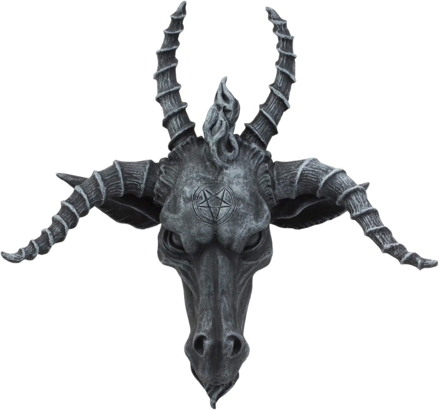"Ebros Eliphaz Levi Sabbatic Goat Baphomet Wall Plaque 8.5"" Wide Satanic Pentagram Goat of Mendes"